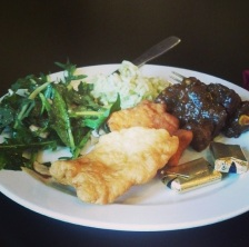 """""""Went to the cabaret to get a quick sandwich, ended up with a gourmet meal...I'll take it #marist #valleycafe #delicious #food #lunchtime"""" (@brianne_tyler)"""